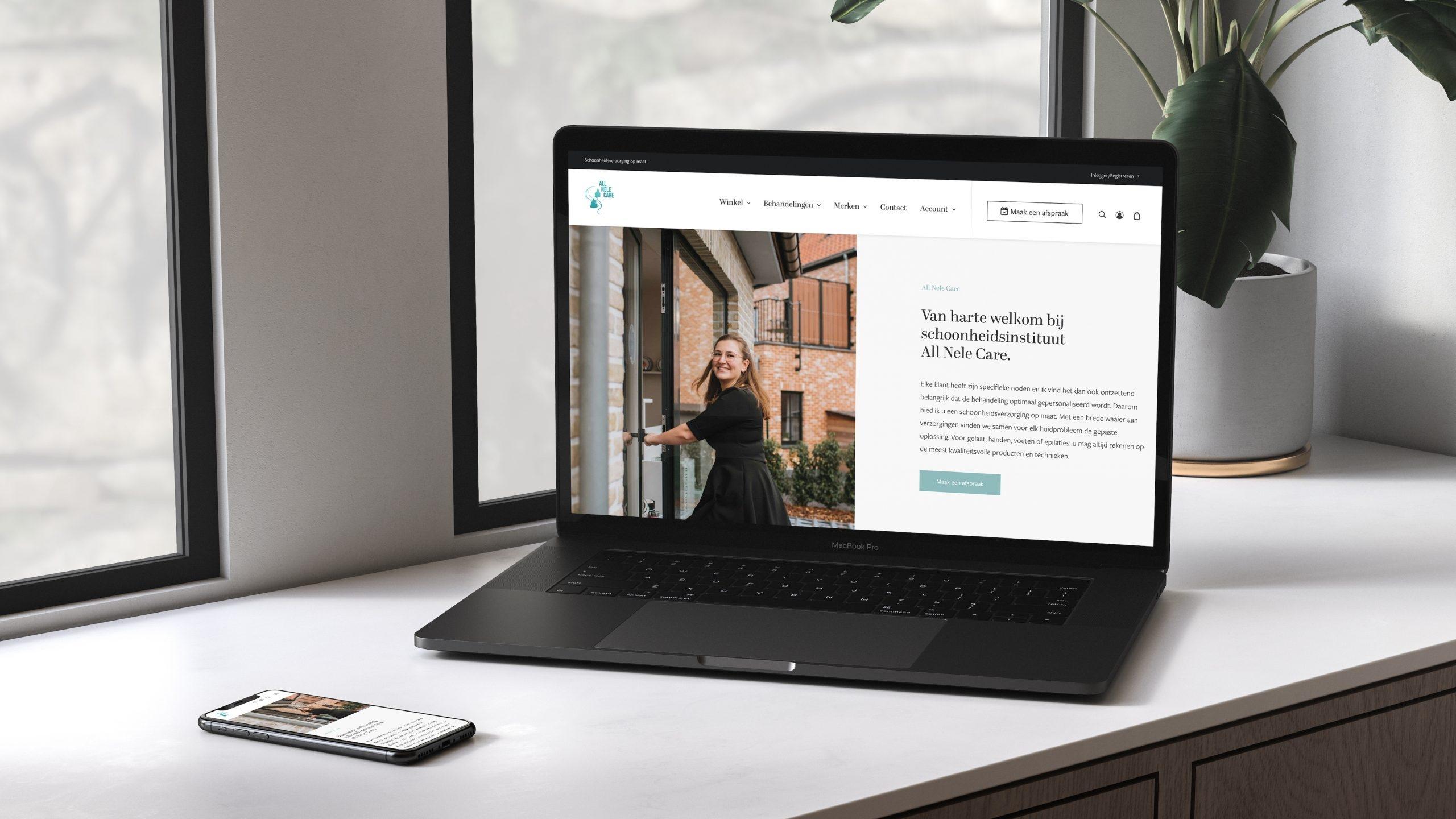 Larkom Webdesign in Londerzeel All Nele Care webshop portfolio 00012 1