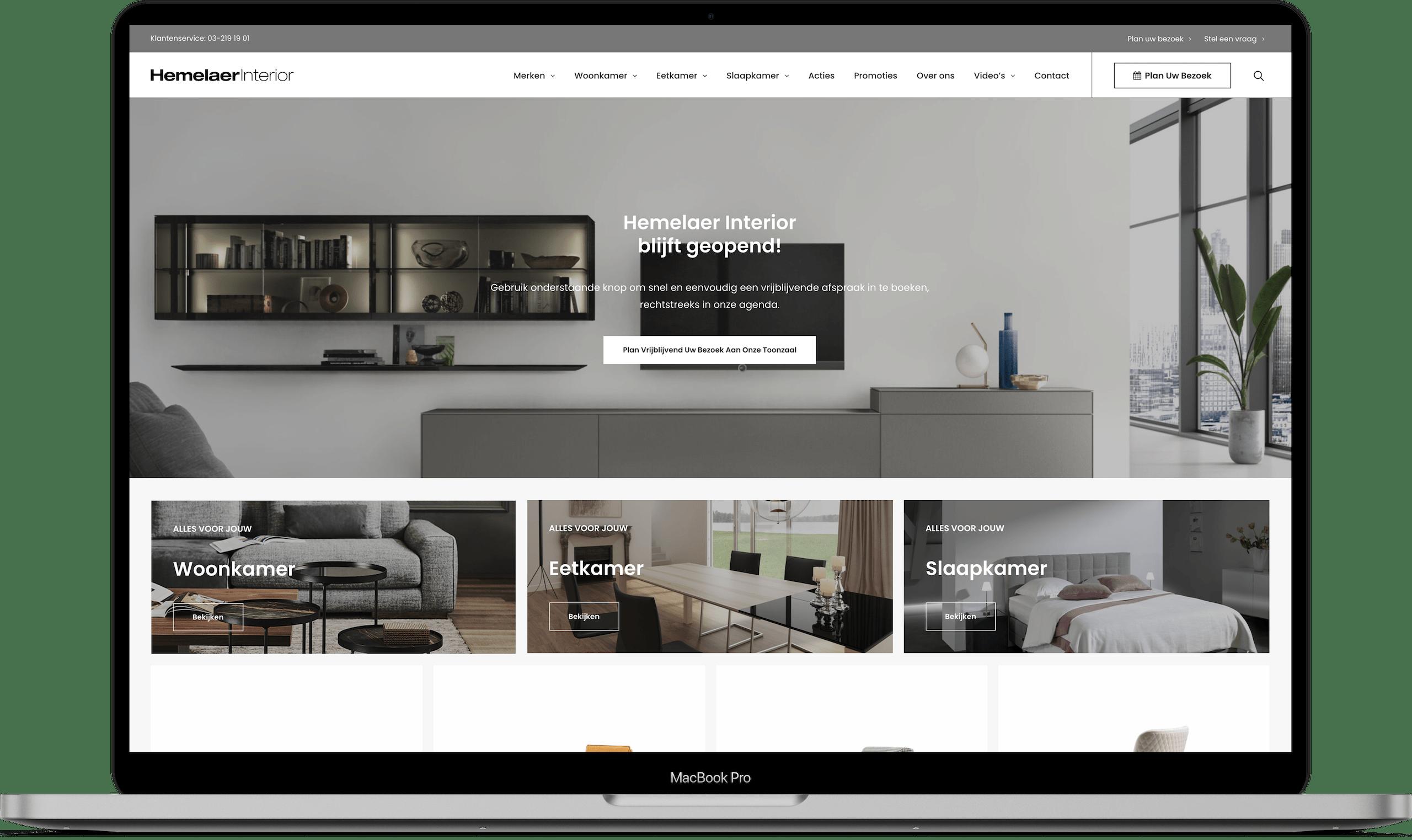 Larkom Webdesign in Londerzeel Hemelaer Interior website portfolio 0013