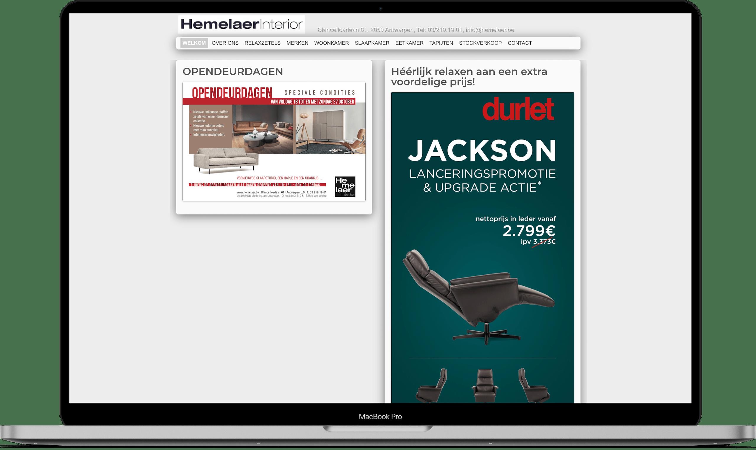 Larkom Webdesign in Londerzeel Hemelaer Interior website portfolio 0014