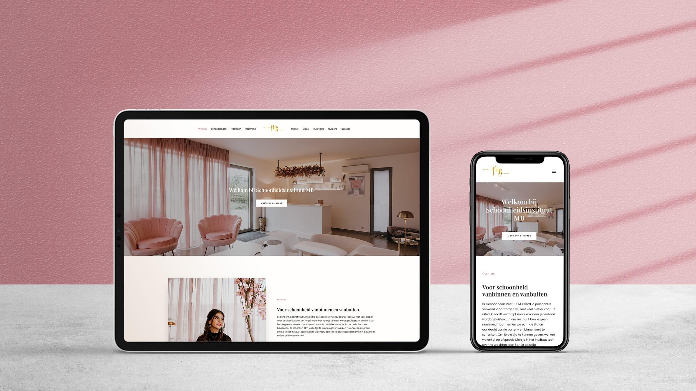 Larkom Webdesign in Londerzeel Schoonheidsinstituut MB website portfolio 0003