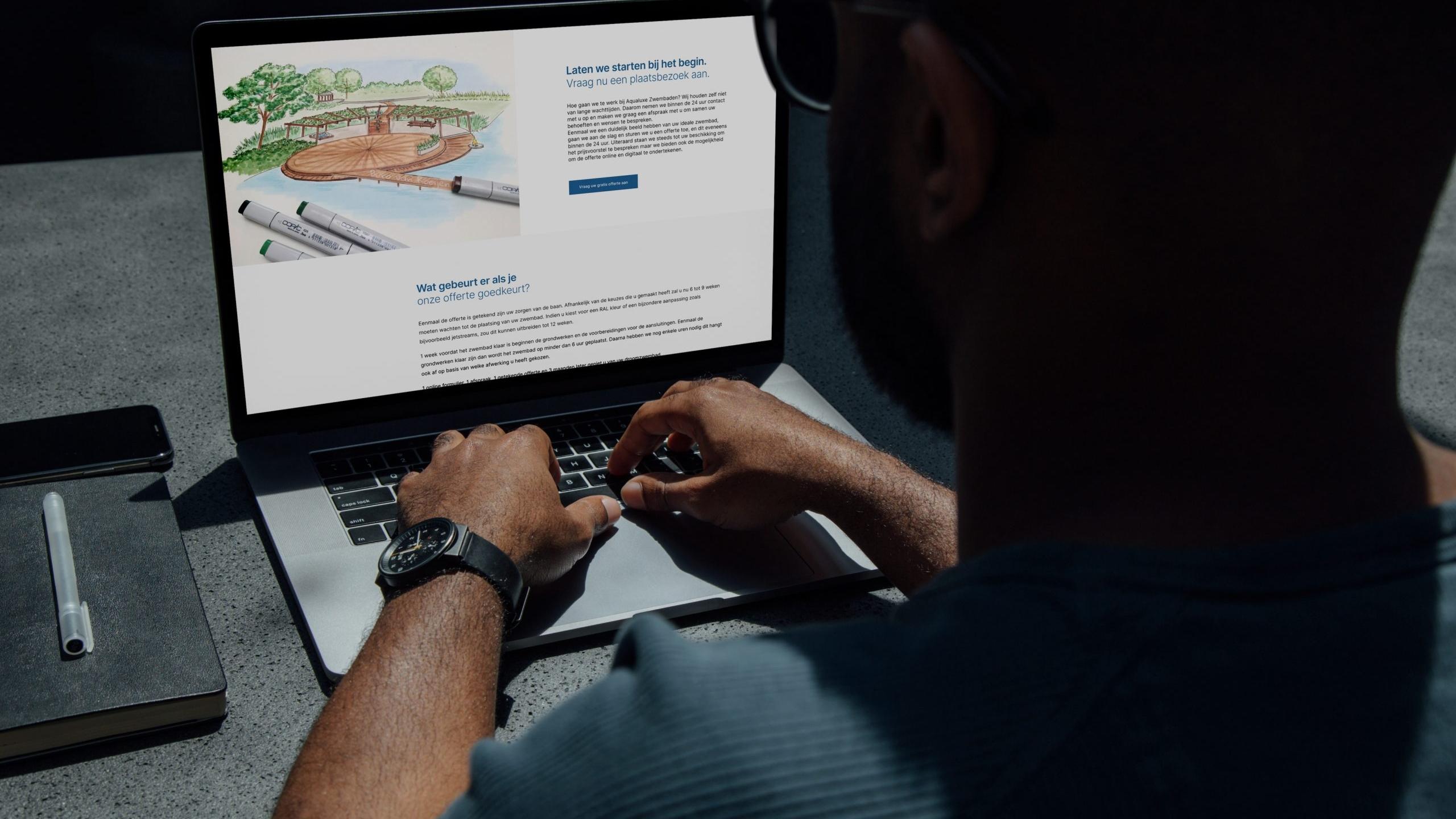 Larkom Webdesign in Londerzeel portfolio Aqualuxe Zwembaden website 0006 1