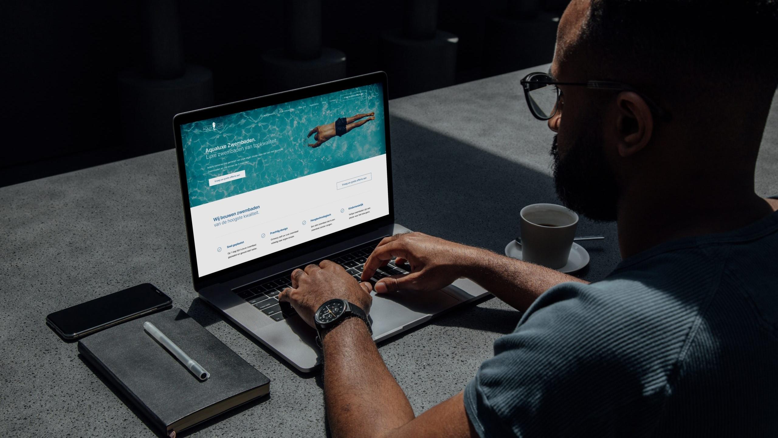 Larkom Webdesign in Londerzeel portfolio Aqualuxe Zwembaden website 0007 1
