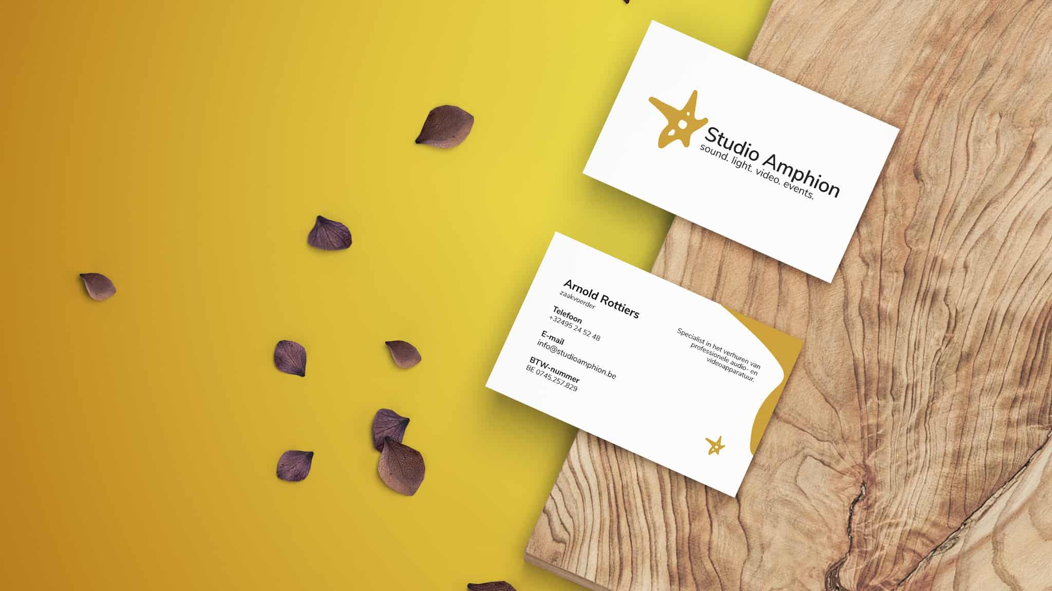 Larkom portfolio Studio Amphion business card v1 1